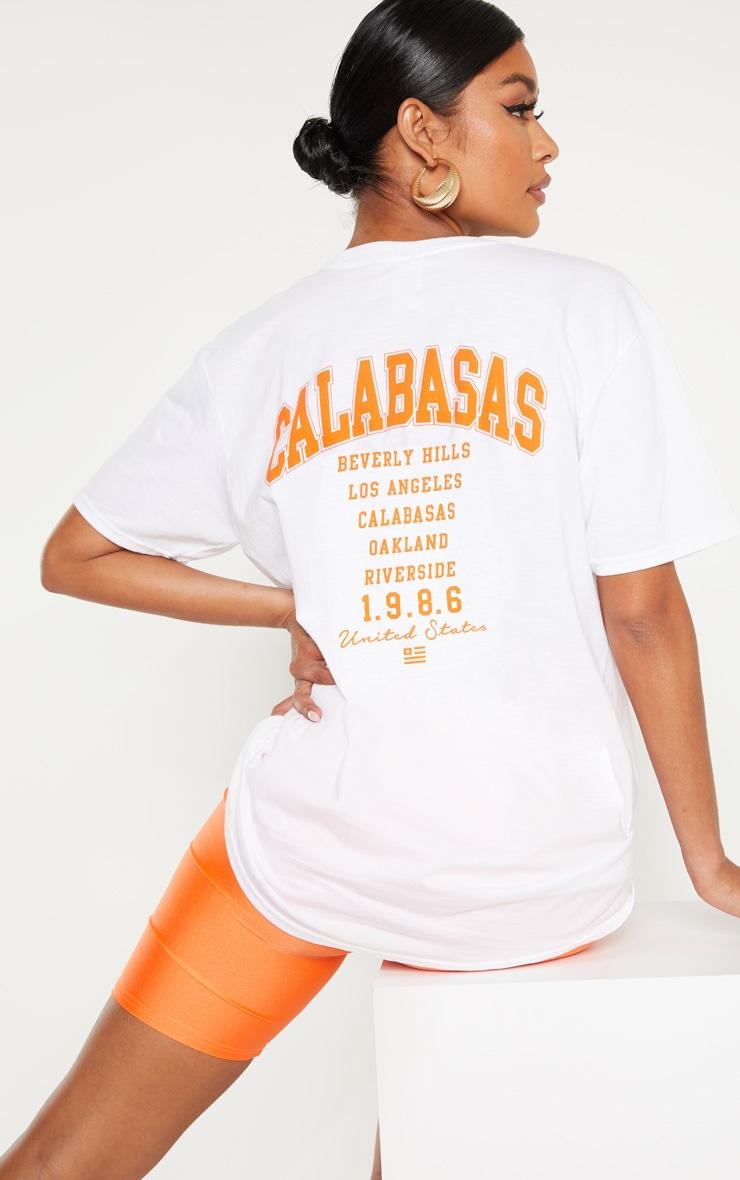 White Calabasas 1986 Slogan Oversized T Shirt