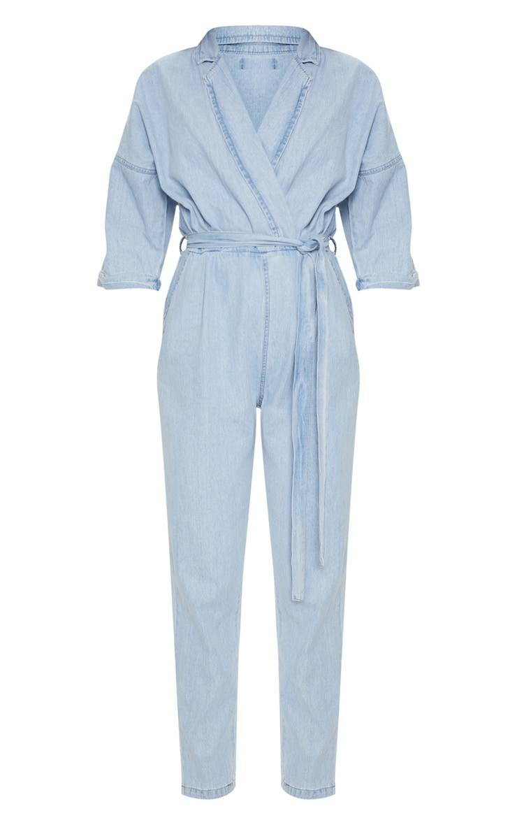 Light Wash Denim Utility Jumpsuit 3
