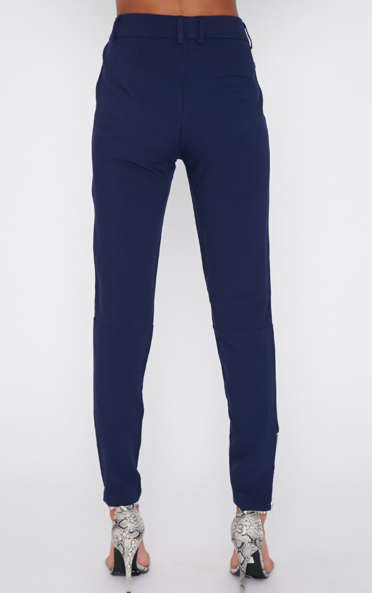 Larisa Navy Zip Cigarette Trouser  4