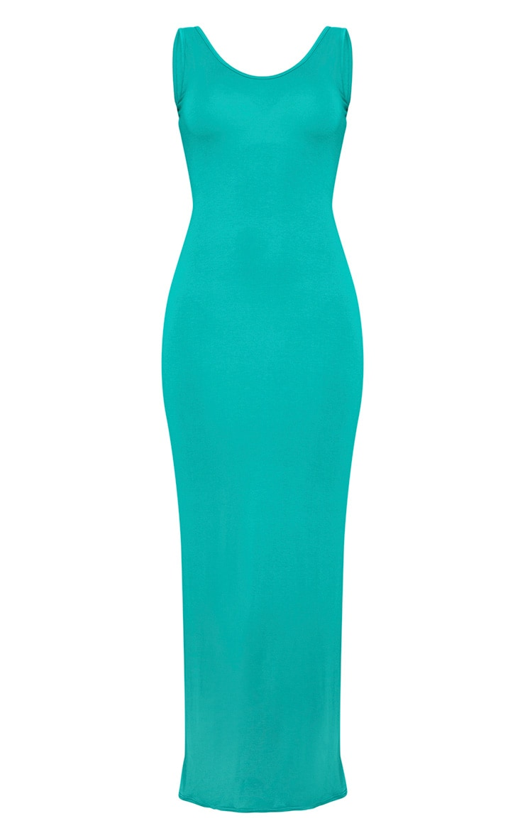 Basic Jewel Green Maxi Dress 3