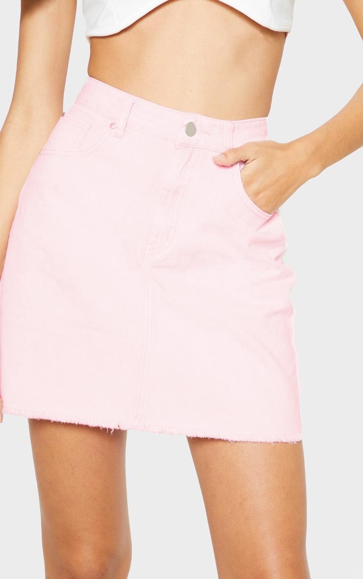 Acid Pink Denim Skirt 6