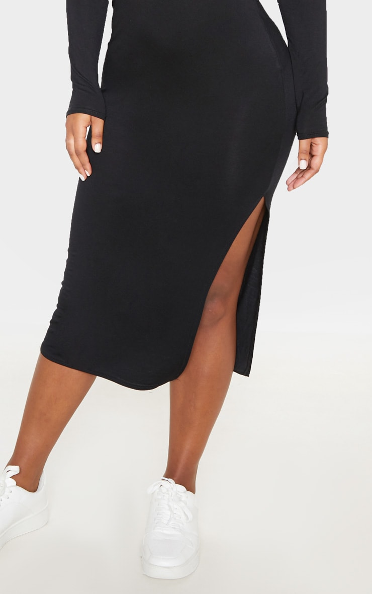 Black Polo Midi Dress 5