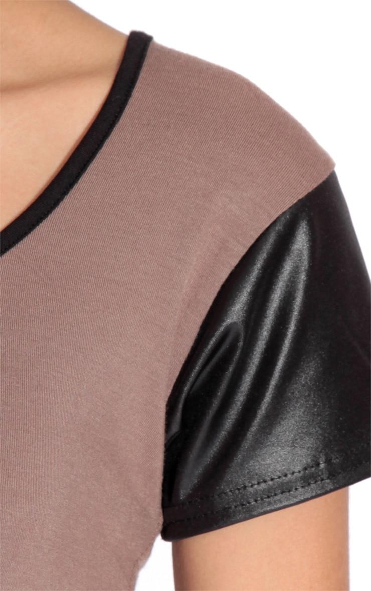 Clea Brown Contrast Sleeve Top-12 5