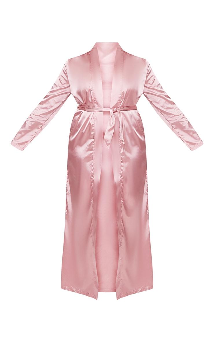 Plus Pink Satin Duster Jacket 4