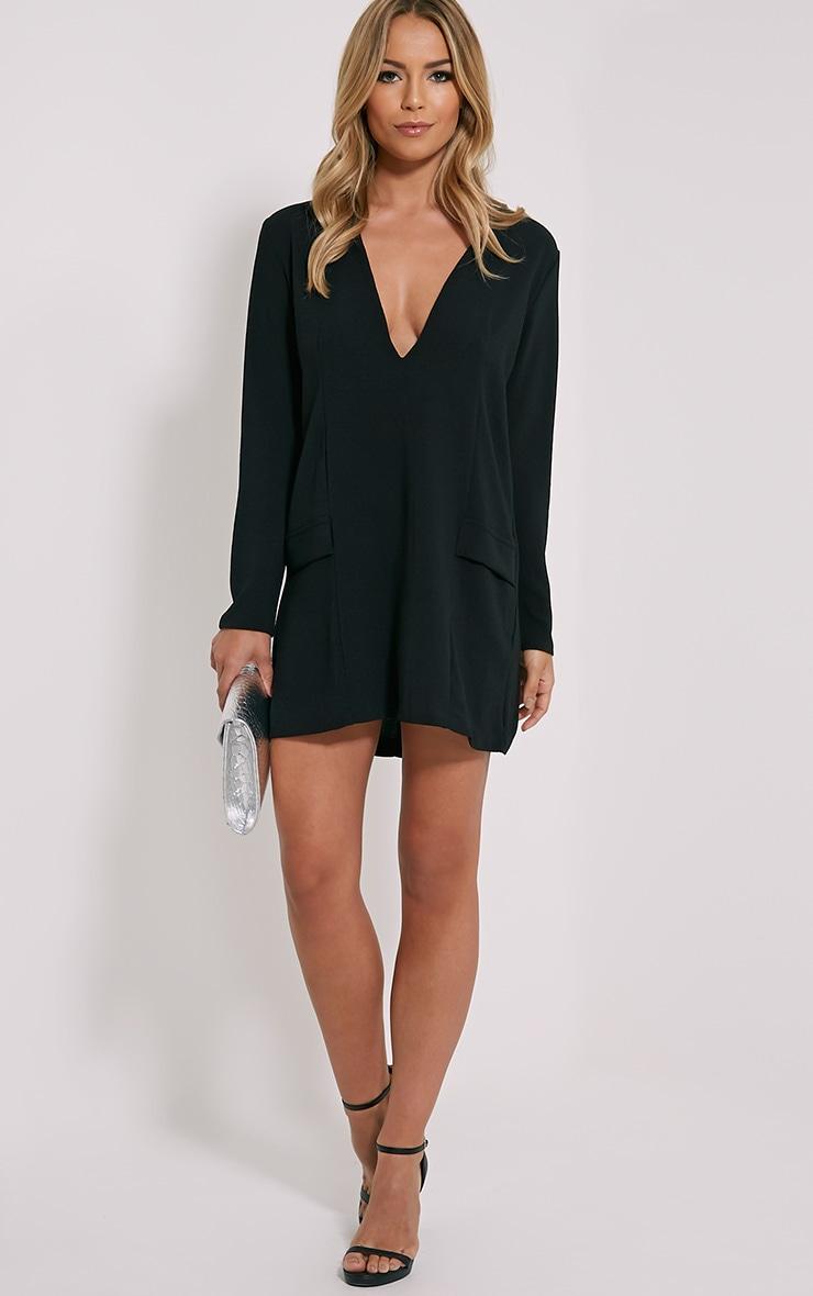Jemima Black Loose Fit Blazer Dress 1