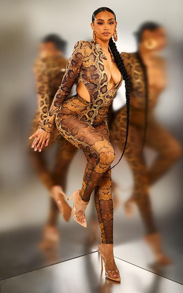 Natural Snake Mesh Leggings 6