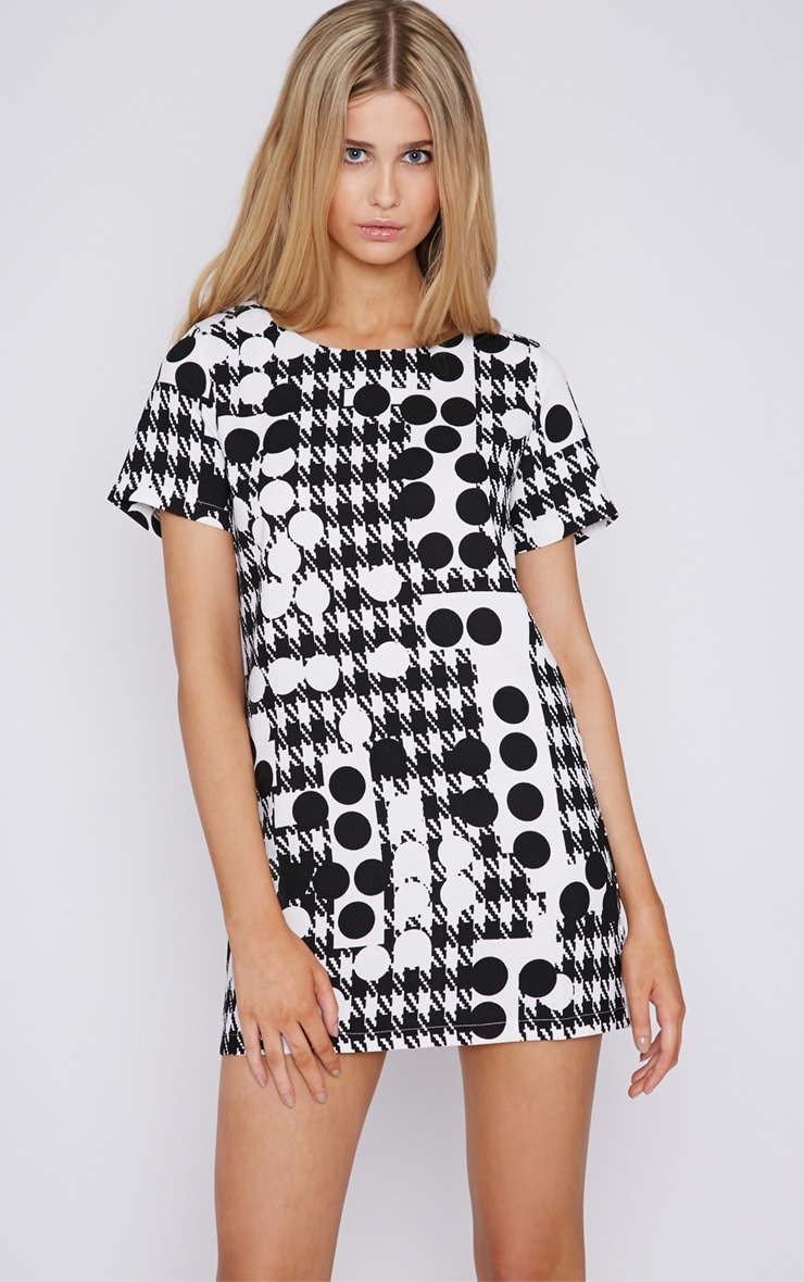 Keeley Monochrome Print Shift Dress 3