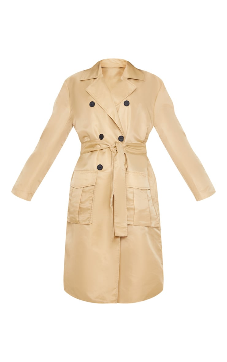 Stone Nylon Belted Trench 3