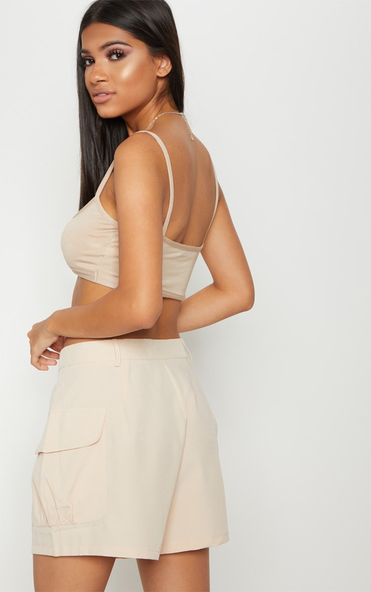 Basic Nude Jersey Cut Out Bralet 2