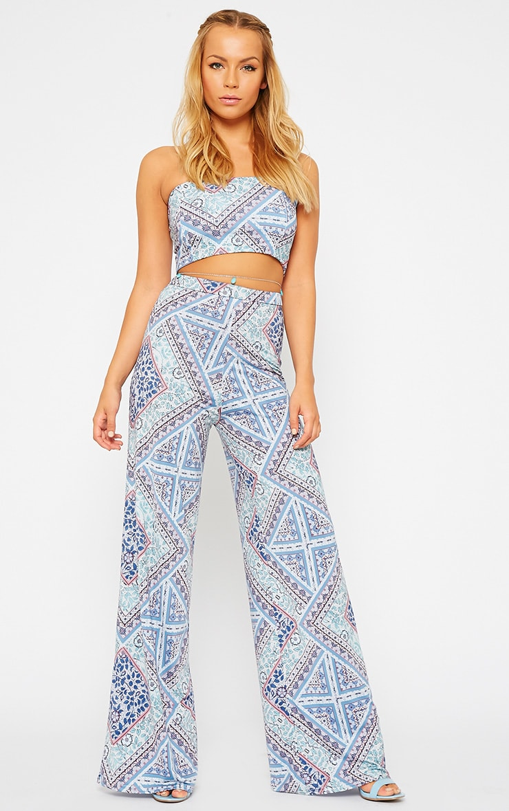 Maude Paisley Print Flare Trousers 1