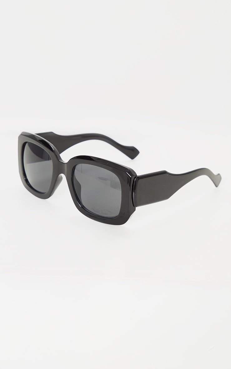 Black Oversized Chunky Squareframe Sunglasses 3