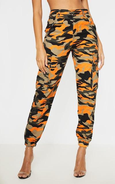 Orange Camo Denim Joggers