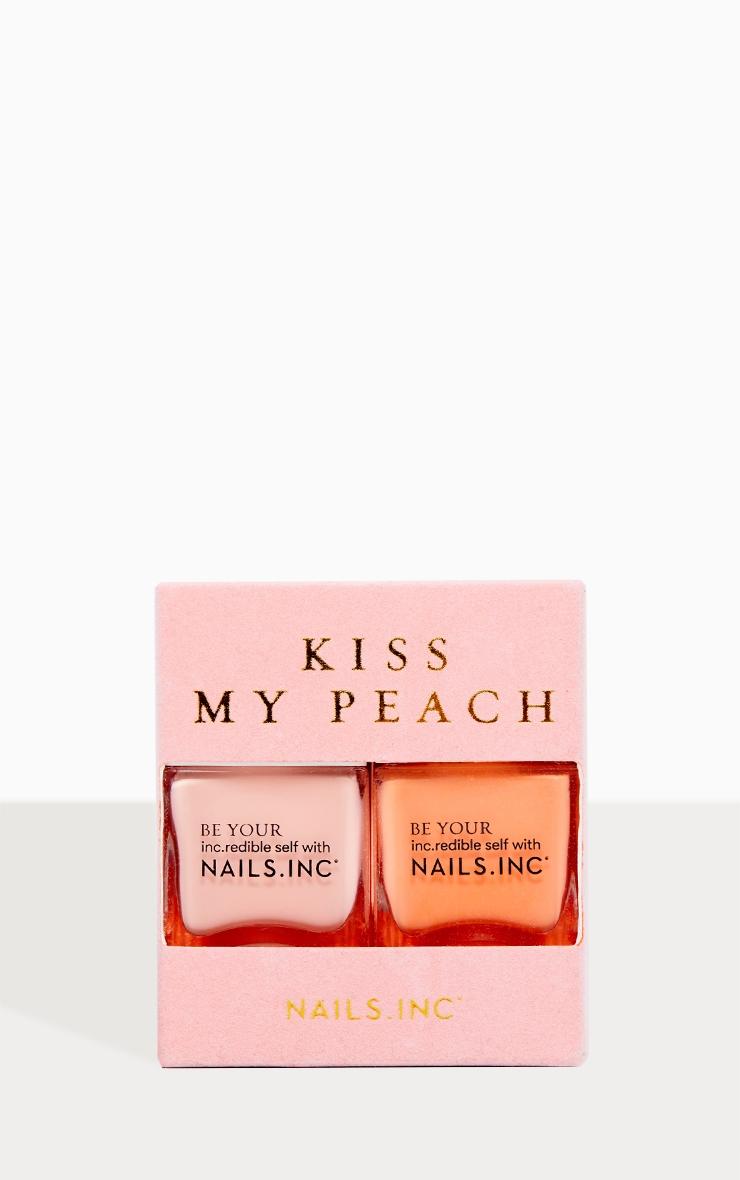 Nails Inc Kiss My Peach Nail Polish Duo 3