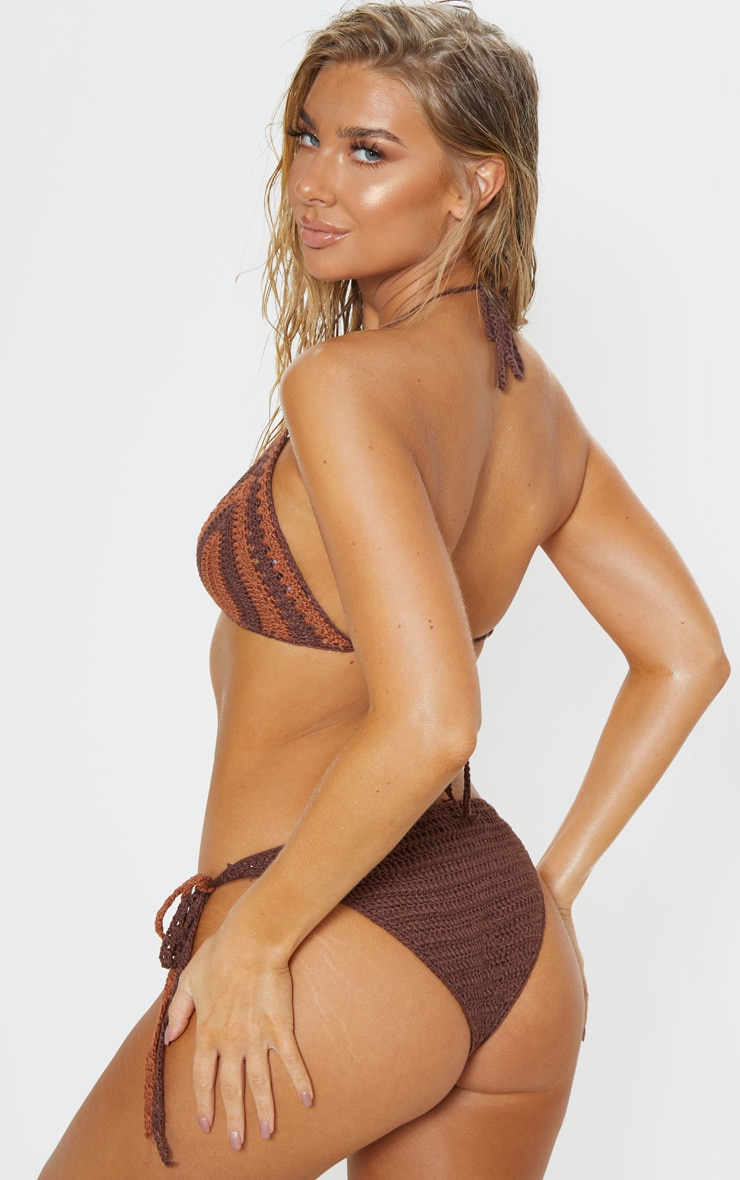Chocolate Crochet Bikini Top 2