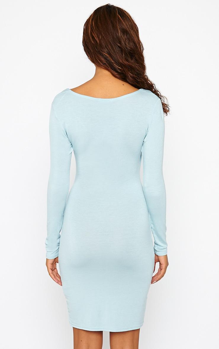 Kayla Powder Blue Wrap Jersey Dress 2