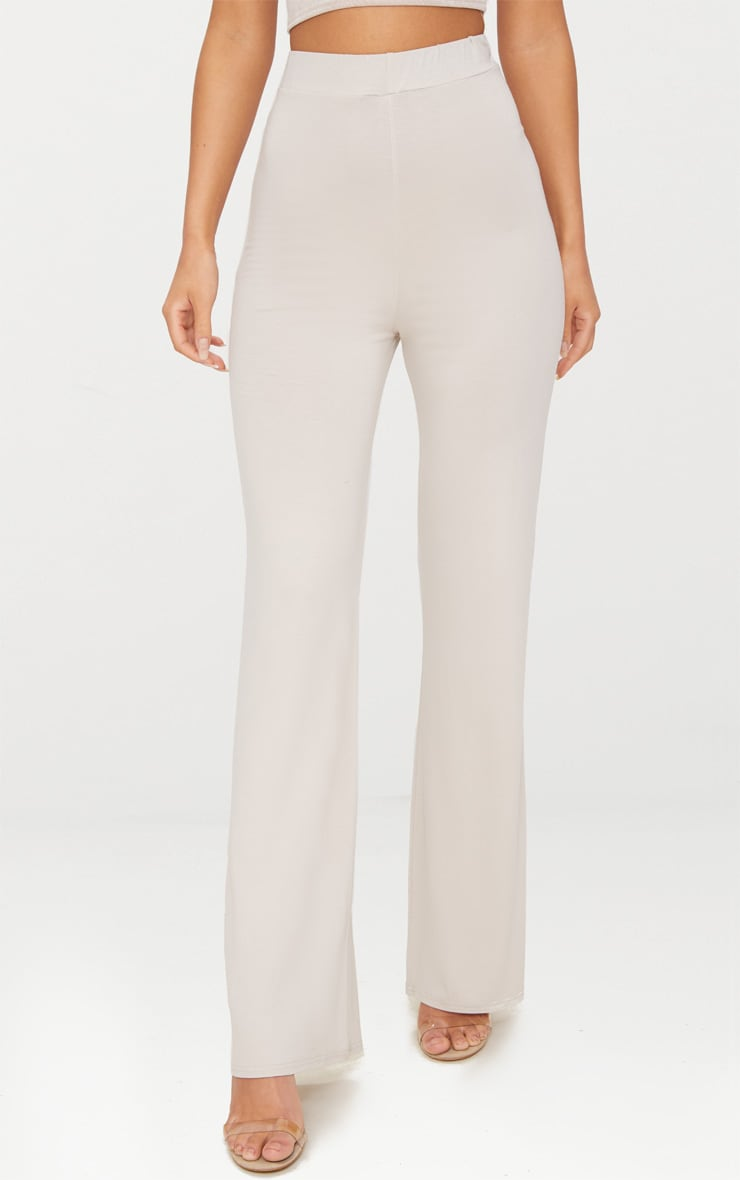 Stone Basic Jersey Wide Leg Trousers 2