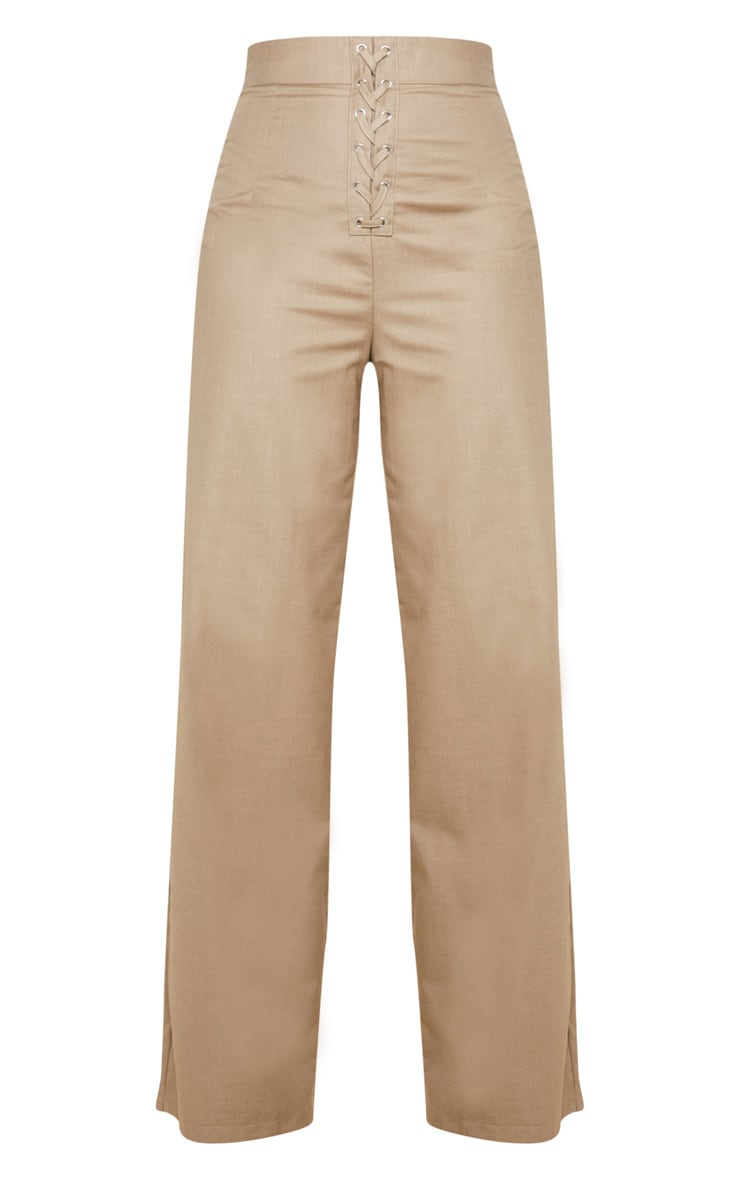 Stone Woven Extreme High Waist Wide Leg Trousers 3