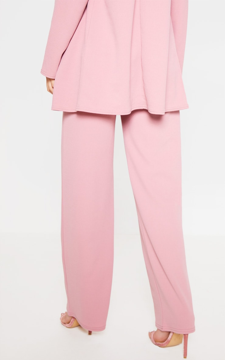 Pink Wide Leg Suit Pants 5