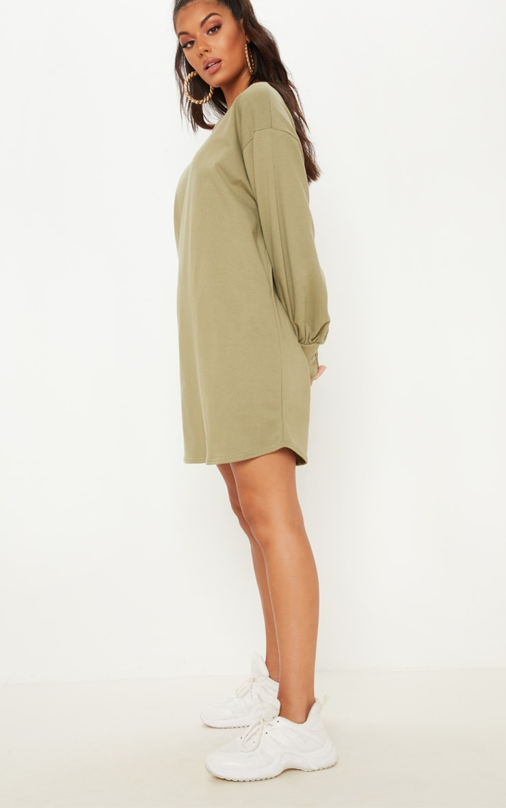 f2e78fbf94f PrettyLittleThing Sage Green Oversized Sweater Dress at £18