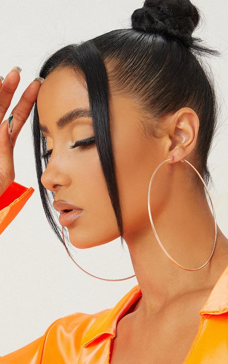 Rose Gold 120mm Hoop Earrings 1