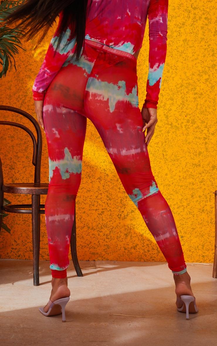 Multi Printed Mesh Leggings 4