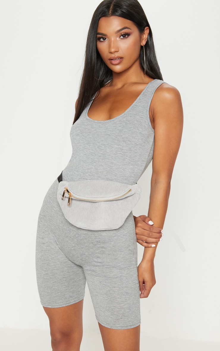 Grey Marl Unitard 1