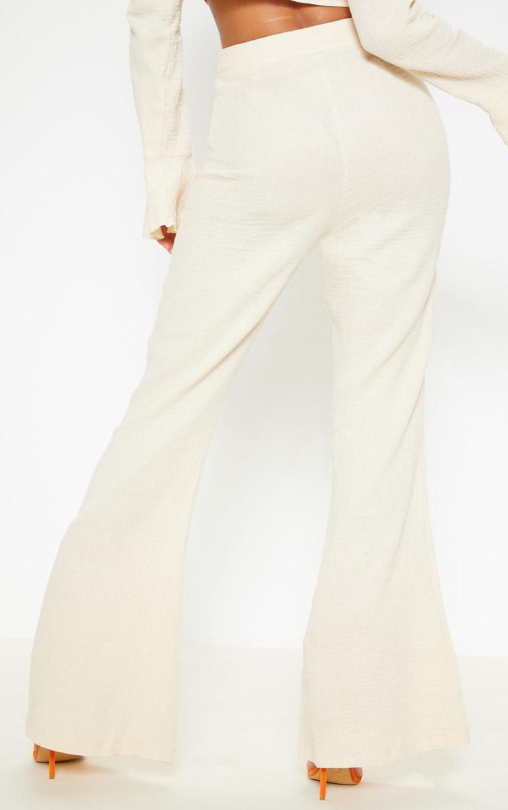 Stone Textured Flare Leg Pants 4