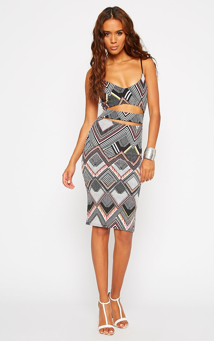 Starla Aztec Print Cut Out Middle Dress 3