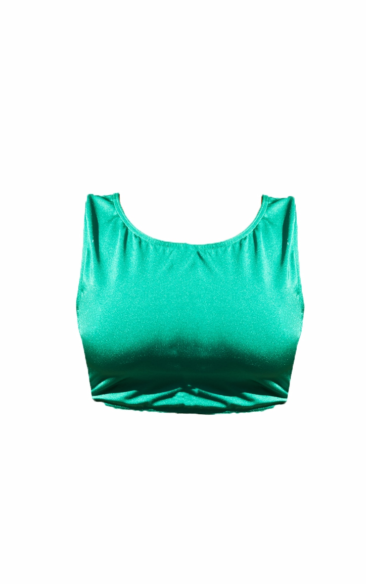 Plus Green High Neck Bikini Top 5