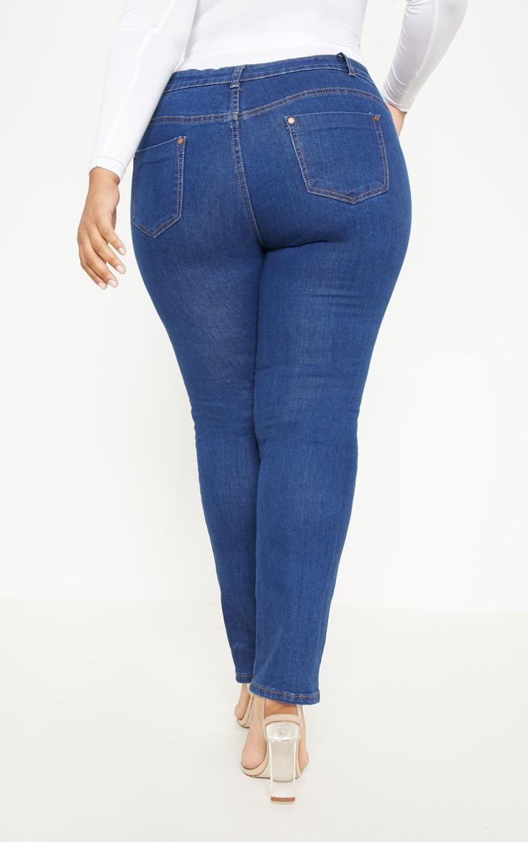 Plus Mid Wash Rise Skinny Jean  4