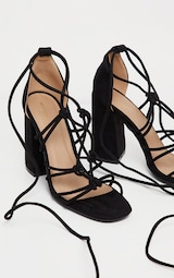 9d18d250ef88 The Black Tube Knot Strappy Block Heel Sandal. Head online and shop ...