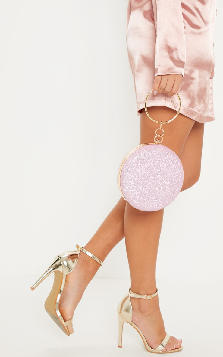 Pink Glitter Circle Grab Bag 1