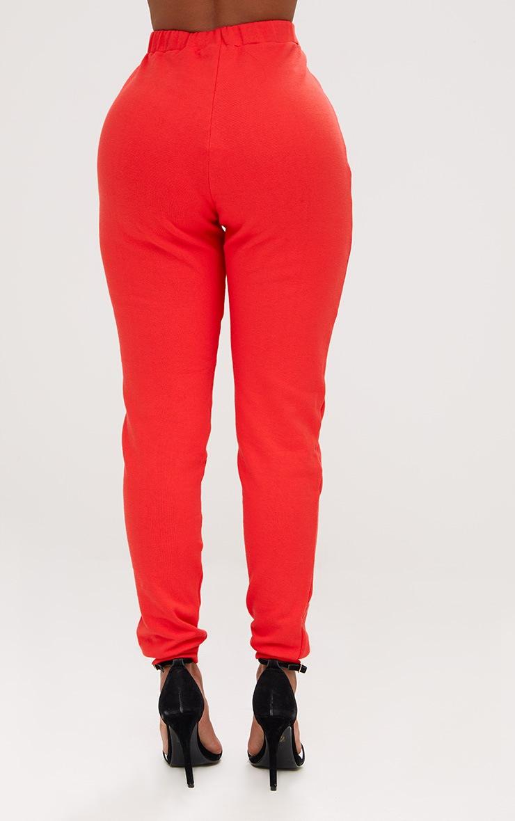 Shape Red Elastic Bottom Joggers  4