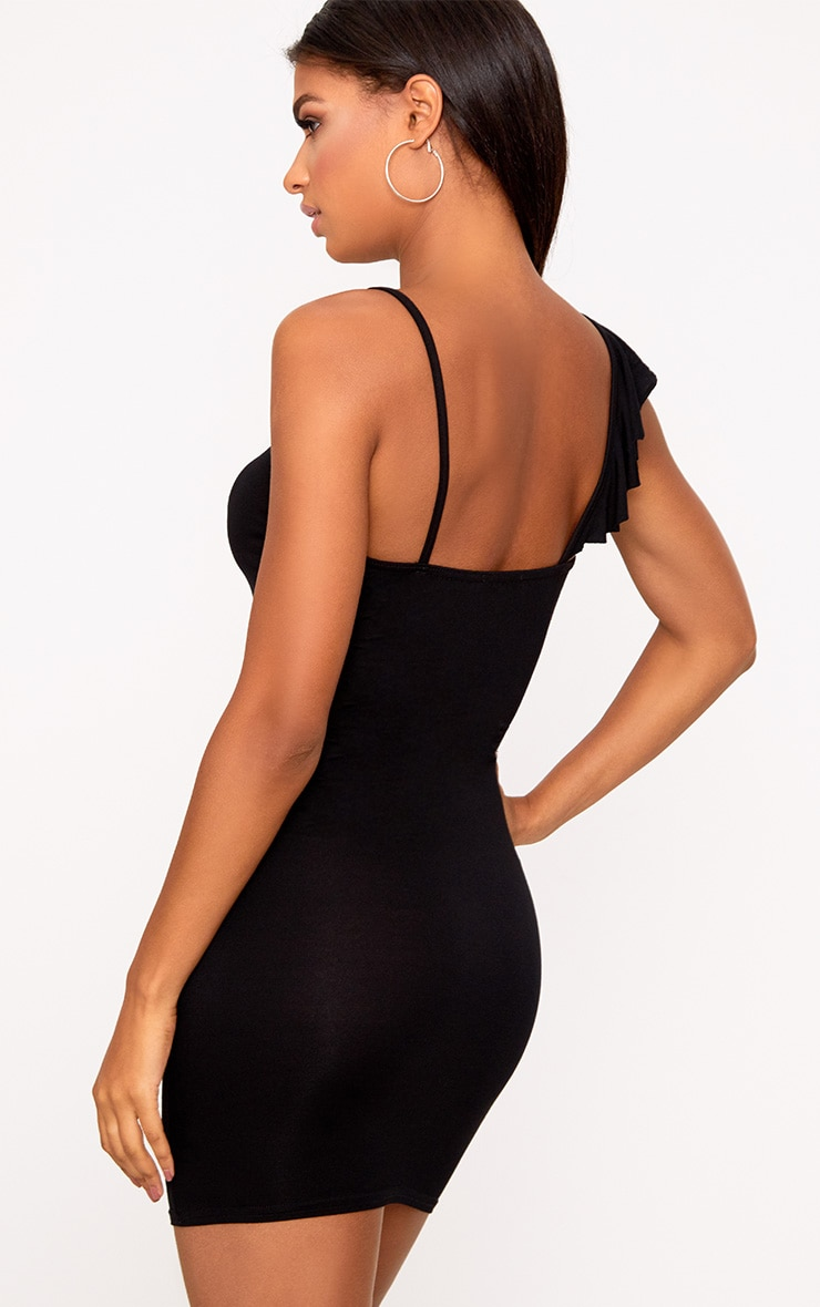 One Shoulder Frill Bodycon Dress 2