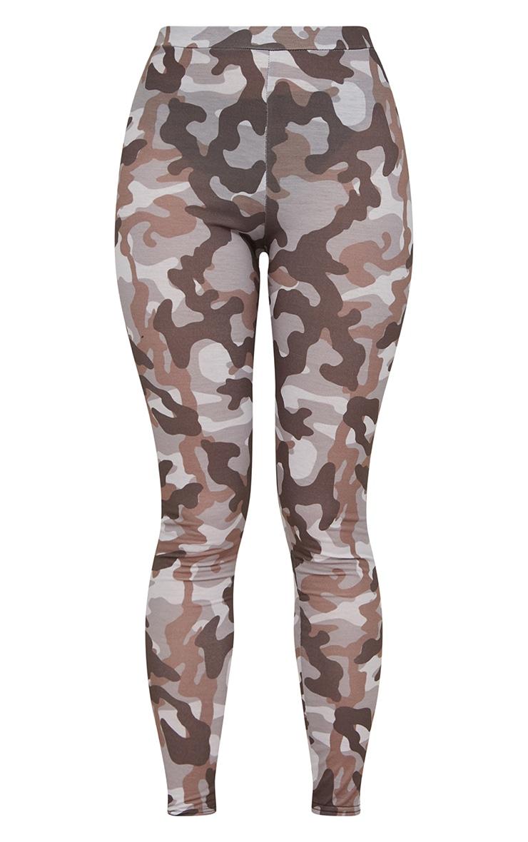 Grey Camo Print Leggings 3
