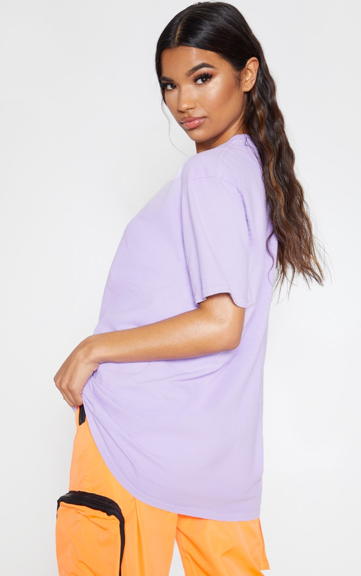 Ultimate Lilac Oversized T Shirt 2