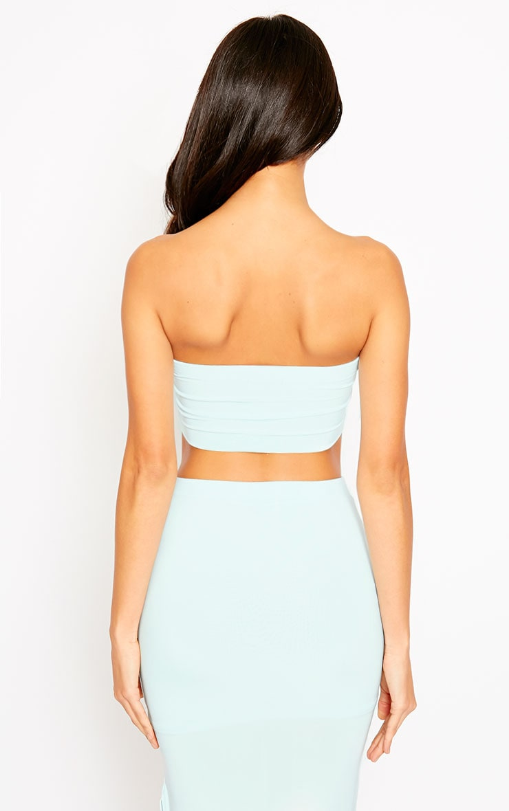 Helsa Mint Slinky Bandeau Crop Top 2