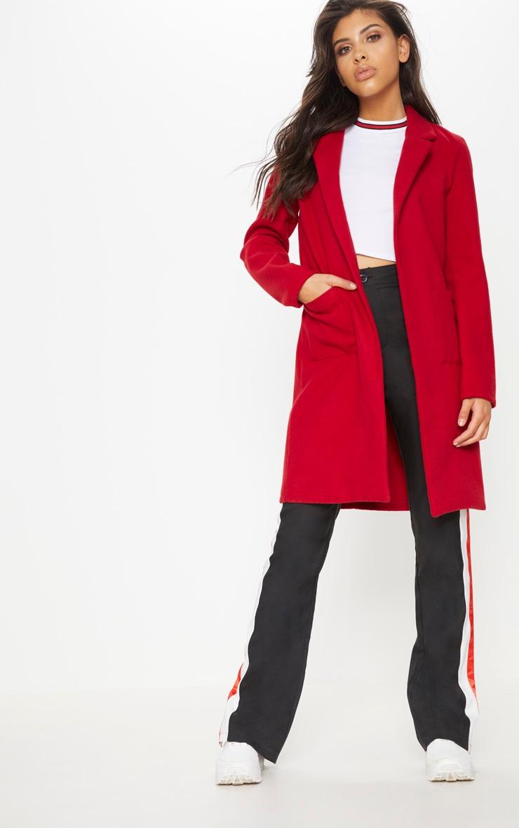 Red Pocket Front Coat  4