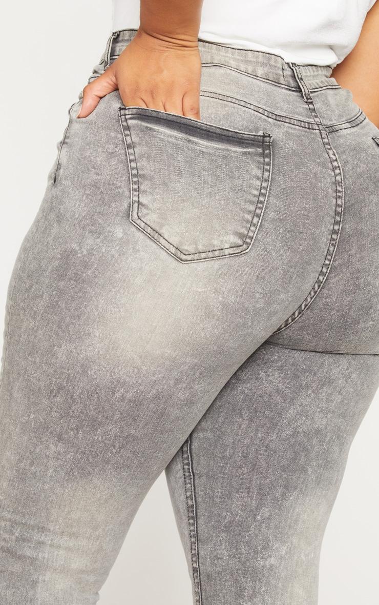 Plus Grey Skinny Jeans 5