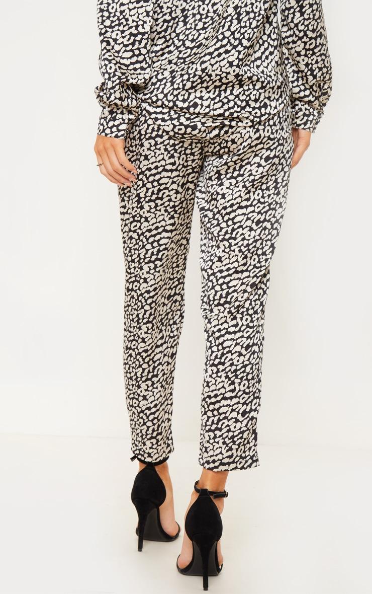 Leopard Printed Cigarette Pants 3