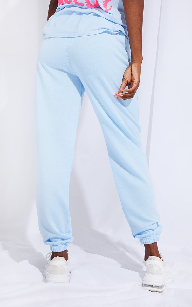 Tall Basic Baby Blue Cuffed Hem Jogger 3