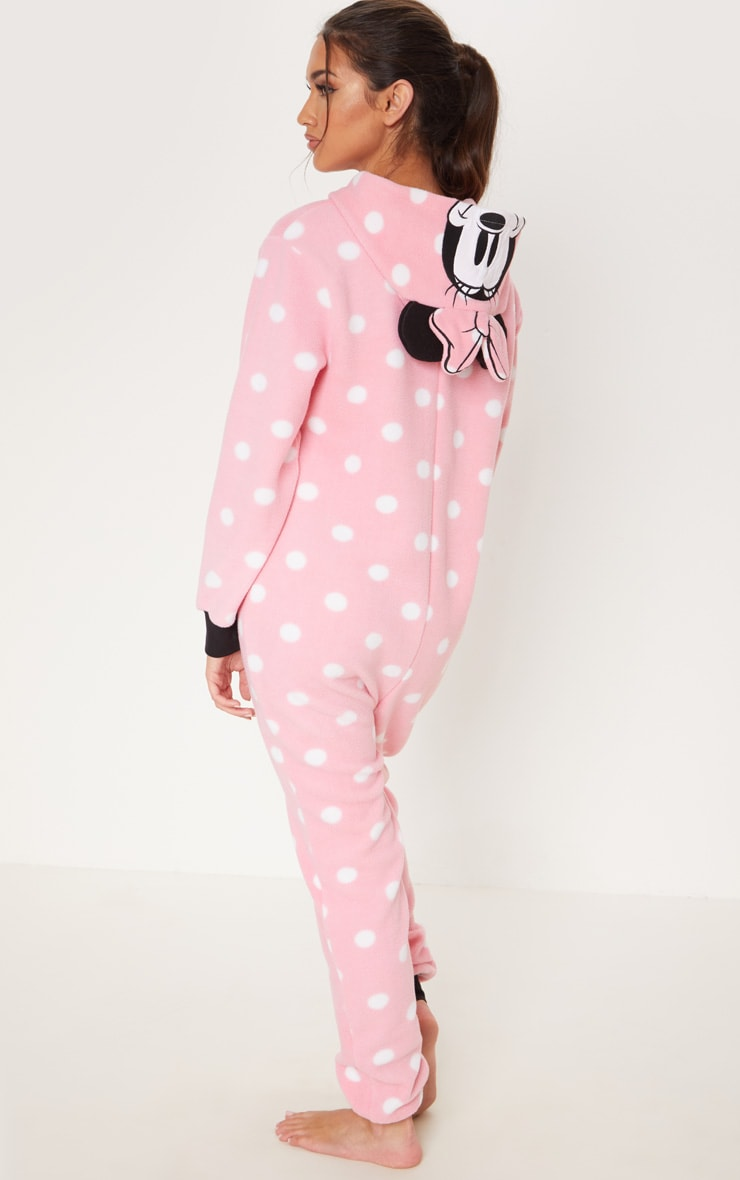 Pink Disney Minnie Mouse Polka Dot Onesie 2