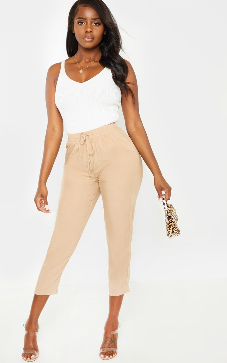 Petite Stone Casual Pocket  Trousers 1