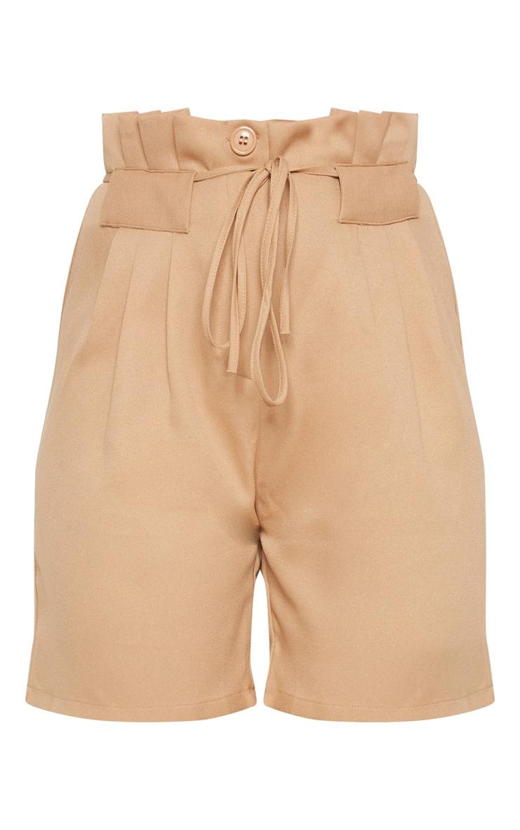 Camel Tie Waist Shorts 3