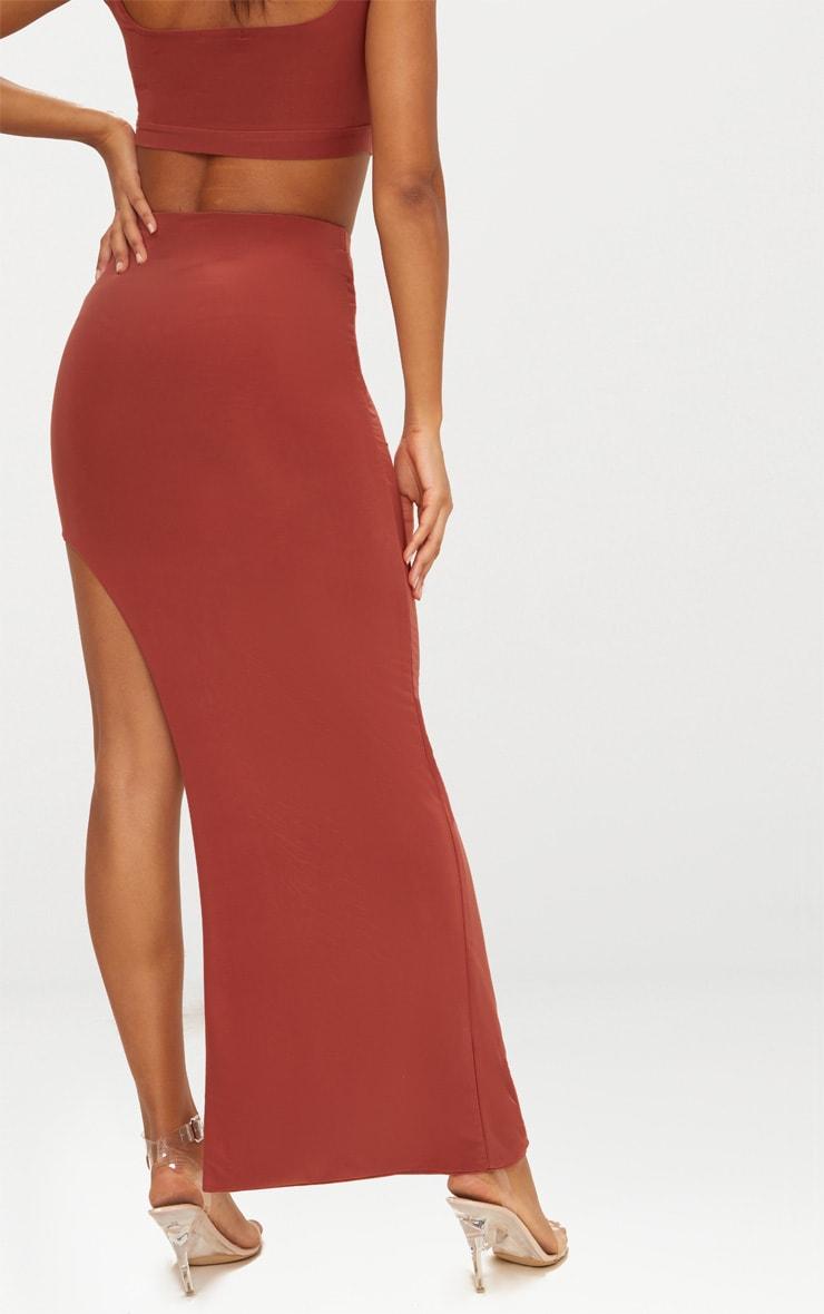 Spice Slinky Thigh High Split Midaxi Skirt  4