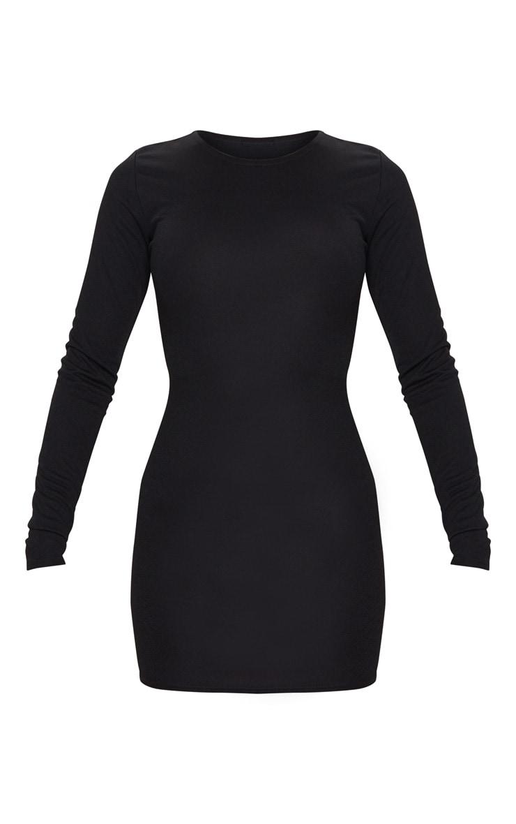 Black Long Sleeve Bodycon Dress 5