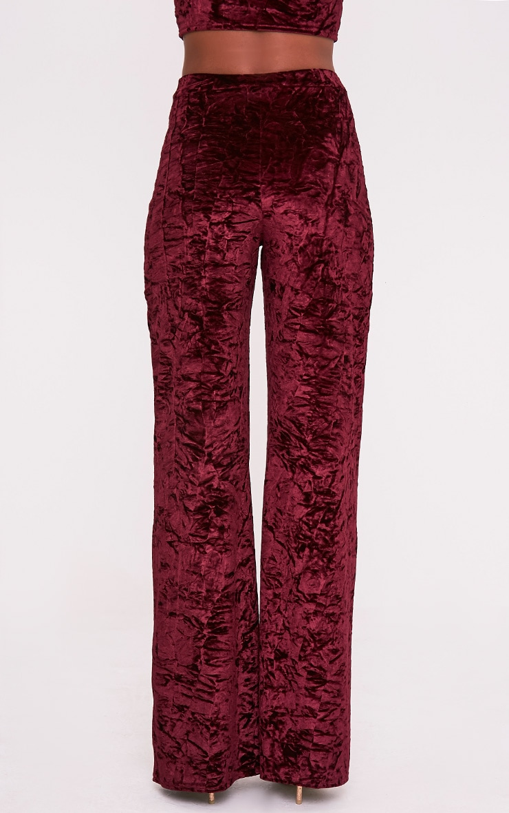 Jill Berry Crushed Velvet Palazzo Trousers 5