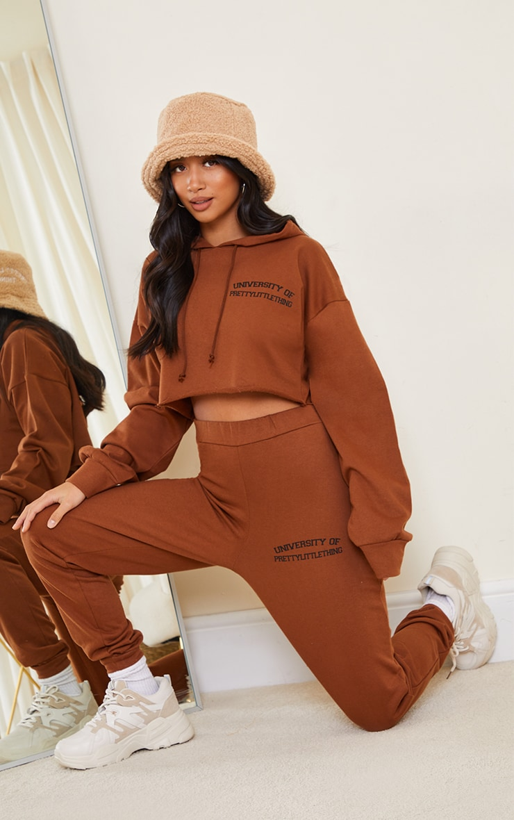 PRETTYLITTLETHING Petite Chocolate Joggers 1
