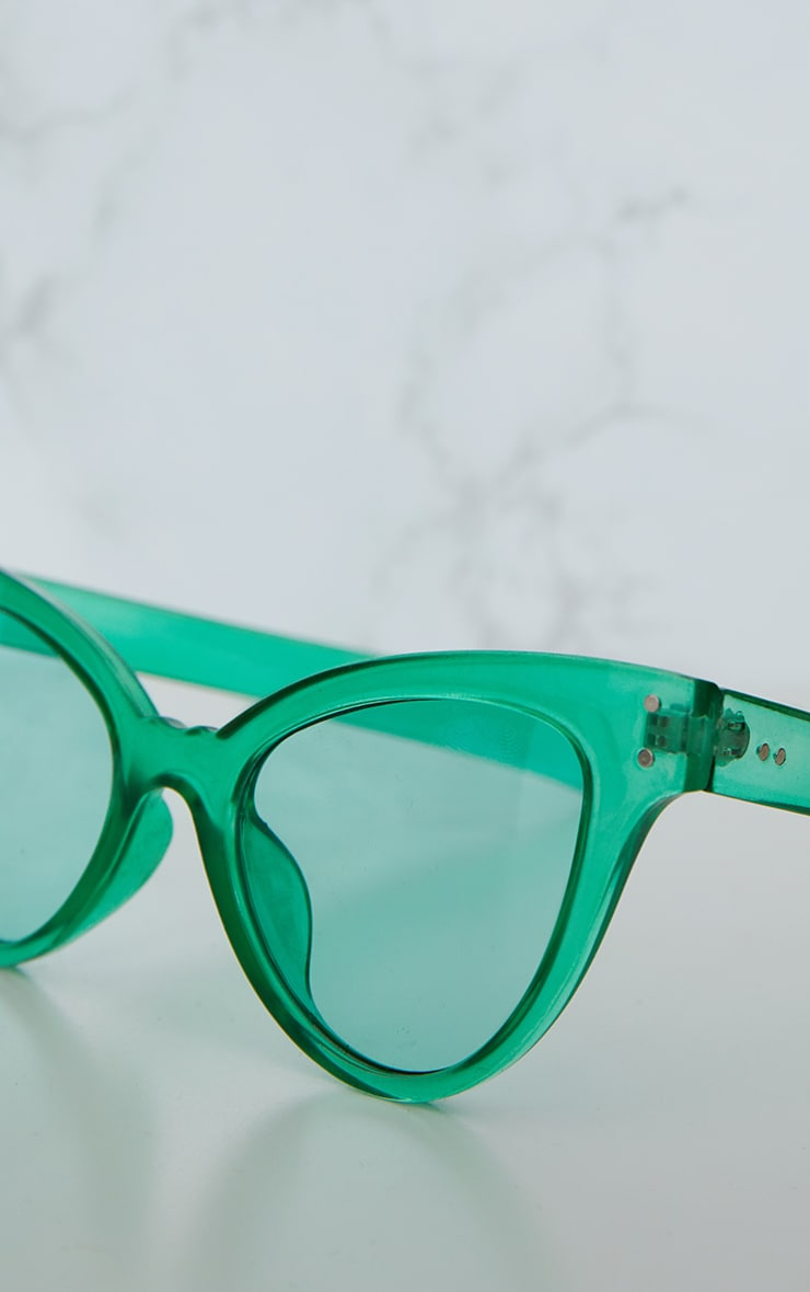 Green Acrylic Cat Eye Sunglasses 5