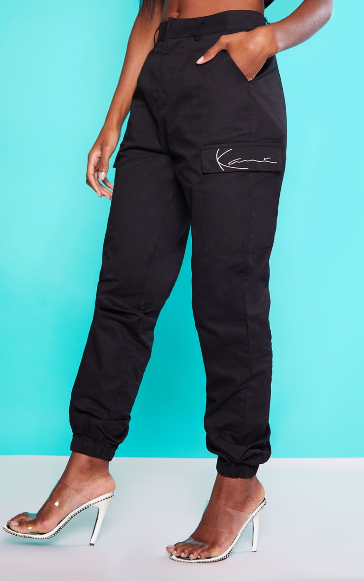 KARL KANI Black Cargo Pants 2